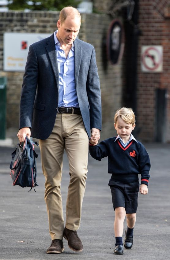 Prince George looked very snappy for his first day of school; he was accompanied by his father, the Duke of Cambridge. As feared, the Duchess was simply too ill to accompany them so William did solo drop-off duty on George's big day. Kate continues to cope with Hyperemesis Gravidarum. The condition causes severe nausea, vomiting, dehydration …