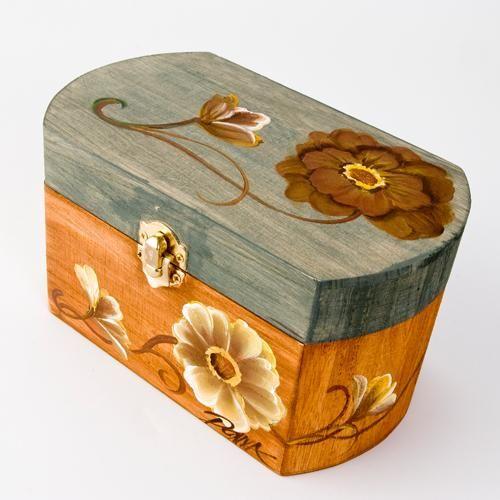 FolkArt ® One Stroke™ Peony Trinket Box