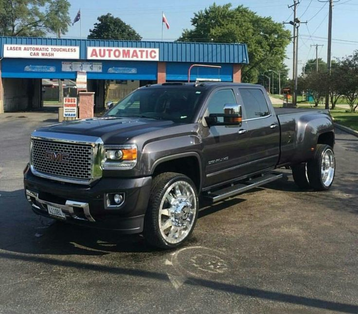 GMC Sierra Denali 3500 Dually | Gmc trucks, American force ...