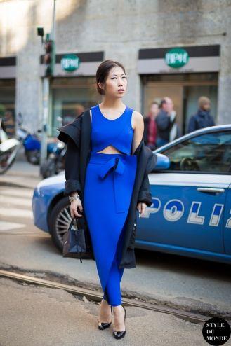 STYLE DU MONDE / Milan Fashion Week FW 2014 Street Style: Oksana On  // #Fashion, #FashionBlog, #FashionBlogger, #Ootd, #OutfitOfTheDay, #StreetStyle, #Style