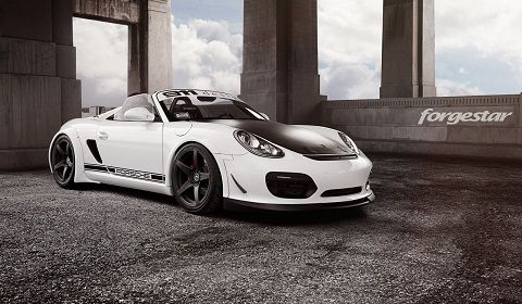 Custom Widebody Porsche Boxster Spyder With Forgestar