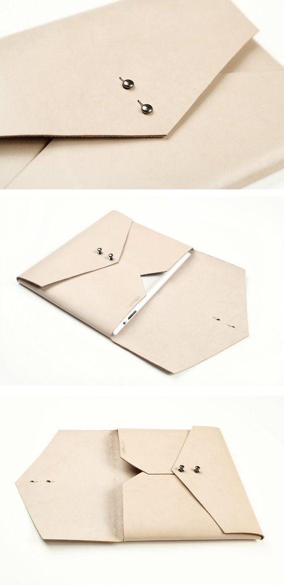 Handbag Wallet Made of Cream Leather Purse Case by MillionBag