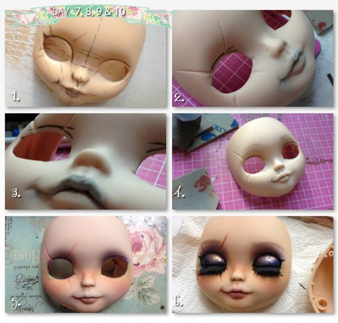 CUSTOMIZE A BLYTHE WITH ME: PART4 (not a tutorial but Rogue Dolls/Picara's, custom Blythe creation process)