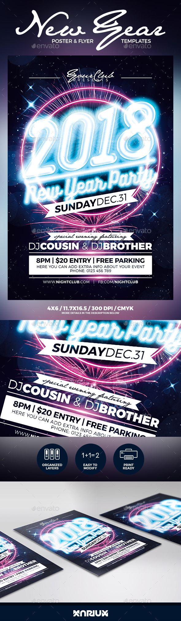New Year Party Flyer and Poster Template