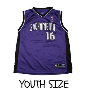 ... 2002 Reebok Sacramento Kings 16 Peja Stojakovic YOUTH Size Large NBA  Jersey . 8f9aa766a