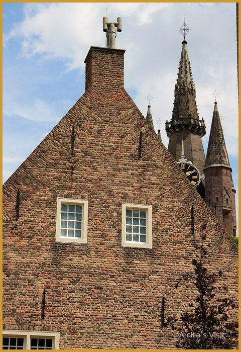 View on Old church Delft