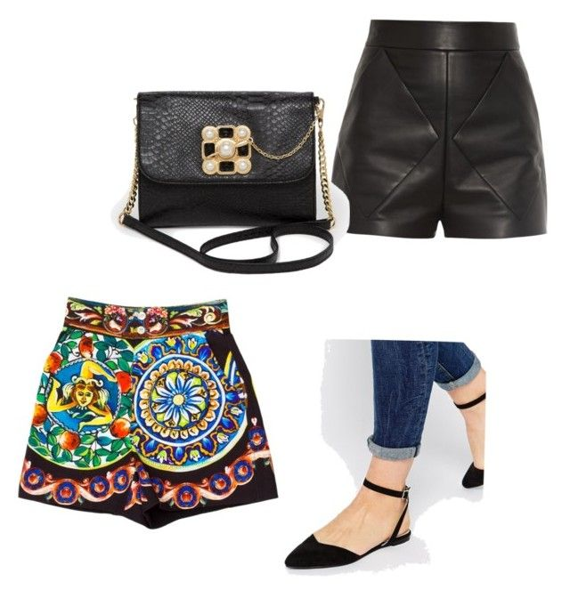 """Тест"" by cinncinn on Polyvore featuring ASOS, Dolce&Gabbana, Balenciaga and Bebe"