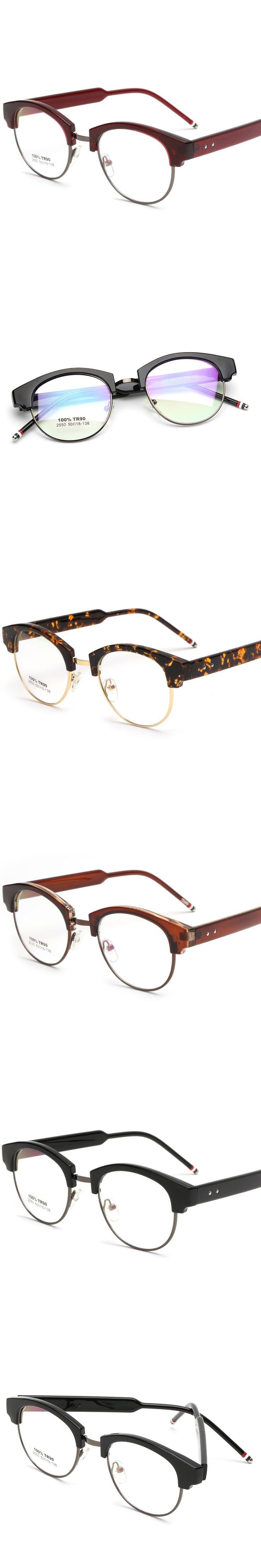 2017 Fashion Unisex  TR90 Highlight Oval Frame Vintage Style High Quality Glasses Frame Laura Fairy LF2550