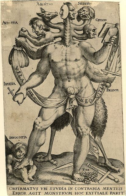 Allegory of the Five Obstinate Monsters 1575 - 1618 Anon