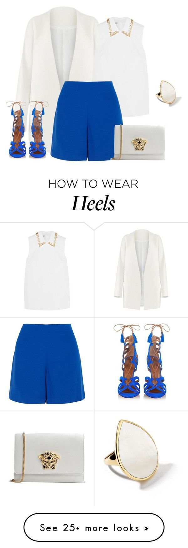 """outfit 3306"" by natalyag on Polyvore featuring Non, Aquazzura, Miu Miu, Opening Ceremony, Ippolita, Versace, women's clothing, women, female and woman"