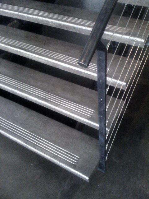 Steel Frame And Concrete Tread Stair By Face Design