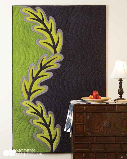 Ascending Leaves. Quilt: Guest Designer Jane Sassaman www.janesassaman.com Modern Quilts Illustrated #9. Photo: Jim White. Copyright Modern Quilt Studio.