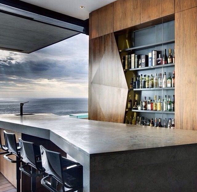 Faceted bar cabinet   #gusto #bar #cabinet #wood
