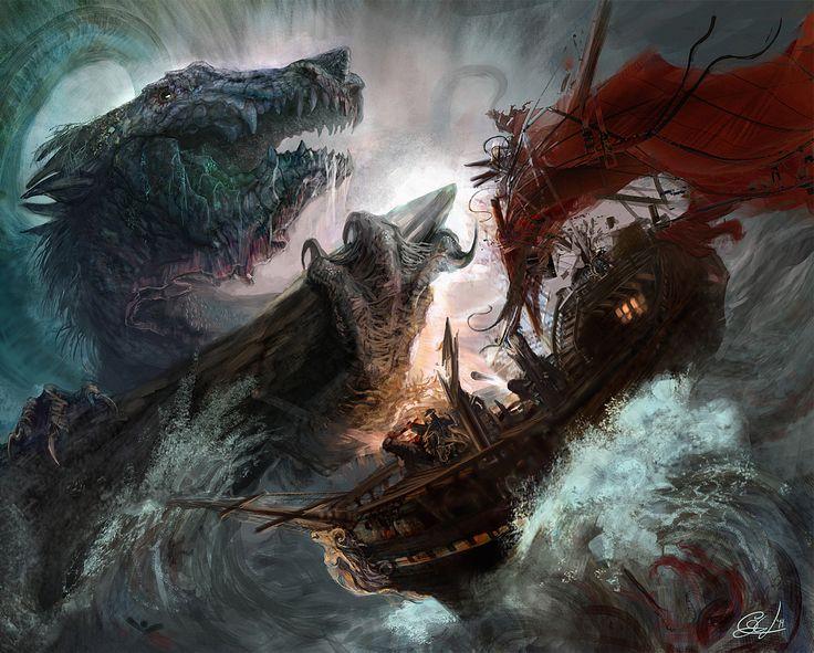 Leviathan - sea dragon - concept