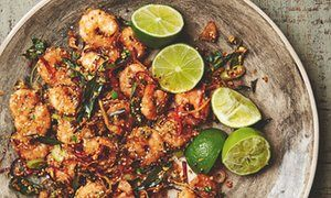 Yotam Ottolenghi's recipe for crisp prawns with oats chilli & ginger | Life and style | The Guardian