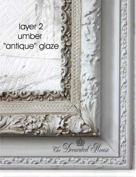 The Decorated House: ~ How To Antique Glaze - A Perfectly Imperfect Frame with Annie Sloan Paris Grey Chalk Paint: Decoration House, Perfect Imperfect, Antiques Glaze, Sloan Paris, Grey Chalk, Annie Sloan, Chalk Paintings, Imperfect Frames, Paris Grey