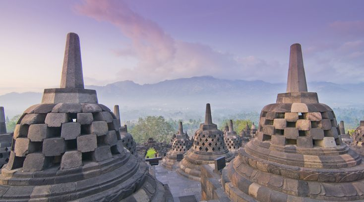Borobudur Temple, Yogyakarta, Java, Indonesia. Essential Java and Bali Indonesia - Pioneer Expeditions. #indonesiaholidays #java #borobudur
