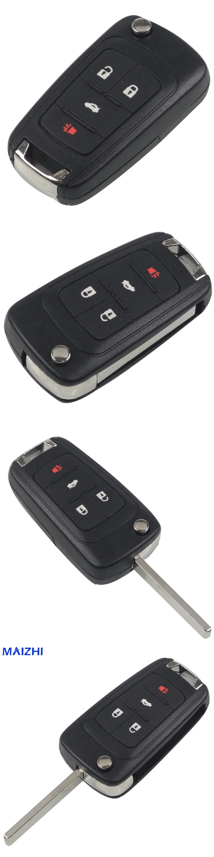 4 Buttons Flip Folding Remote Key Shell Case for GMC for CHEVROLET Malibu Cruze Aveo Car Alarm Housing Keyless Entry Fob Styling