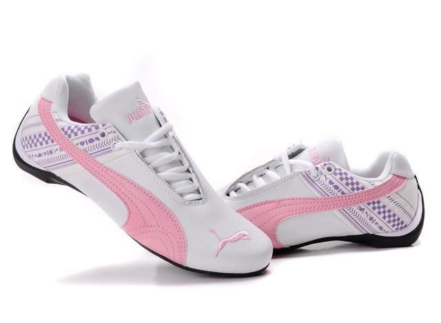 Perfect puma racing style shoes for Breast Cancer Awareness @ the track