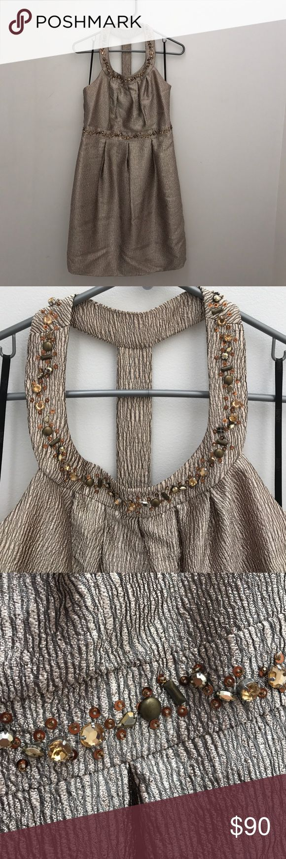 Laundry by Shelli Segal dress! GORGEOUS golden metallic dress with sequin details. Laundry by Shelli Segal Dresses