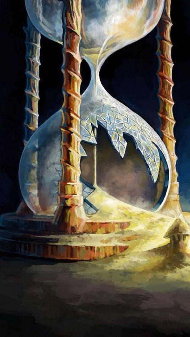 Broken hourglass :(  iPhone Wallpaper.