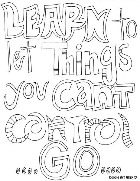 Learn To Let Go Of Things You Cant Control Free Coloring