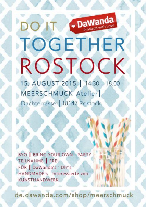 MeerSchmuck: MeerSchmuck & DaWanda DIT Event am 15. August in Rostock