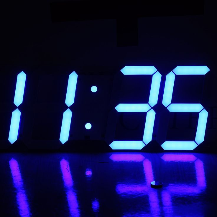 Blue LEDs Digits Large LED Display Wall Clock with Remote Control Multifuction with Date Temperature Alarm Countdown Stopwatch