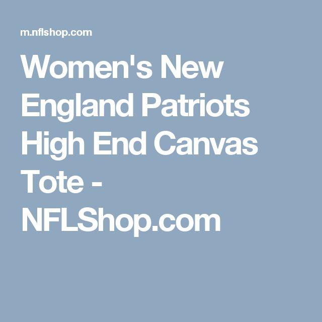 Women's New England Patriots High End Canvas Tote - NFLShop.com