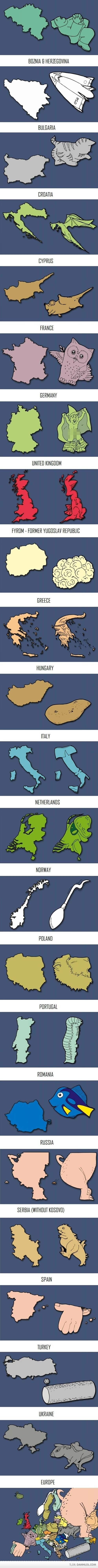 These combined with my previous European mnemonics pin are GREAT!!!  Europe In The Eyes Of An Artist