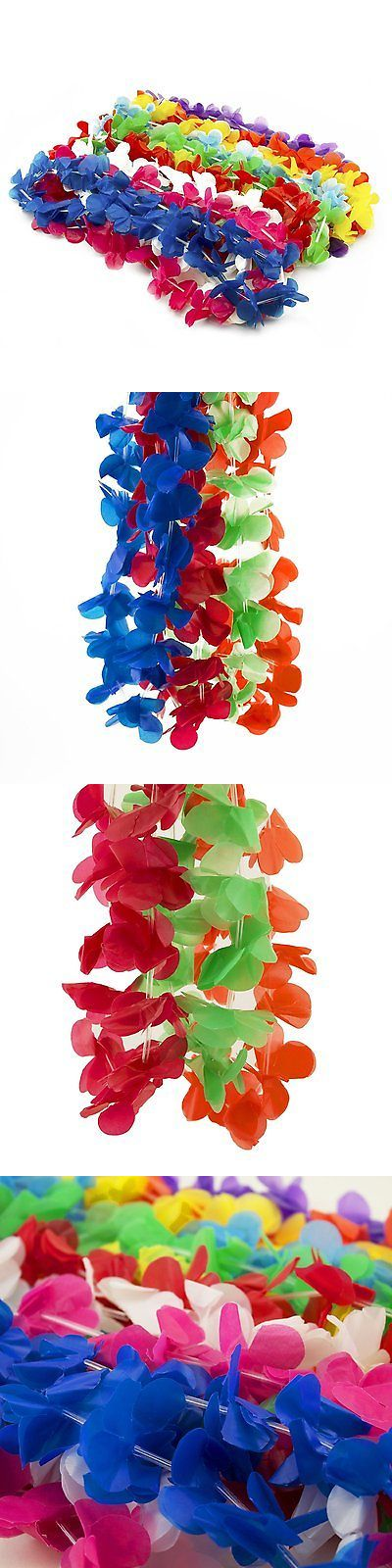 Party Supplies 51017: Hawaiian Flower Leis Luau Plastic Colorful Necklace Beach Grad Party Favors Lot -> BUY IT NOW ONLY: $39.95 on eBay!