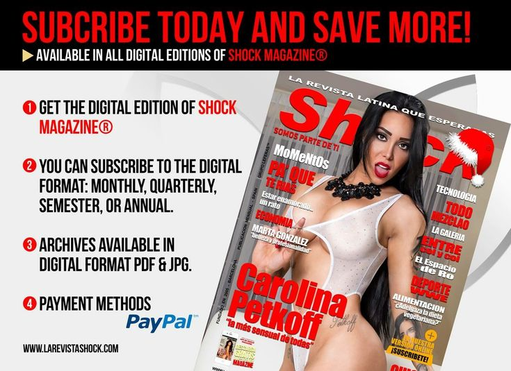 SUBSCRIBE TODAY AND SAVE! SHOCK MAGAZINE®. AVAILABLE FOR ALL EDITIONS http://www.larevistashock.com/suscripcion-digital.htm