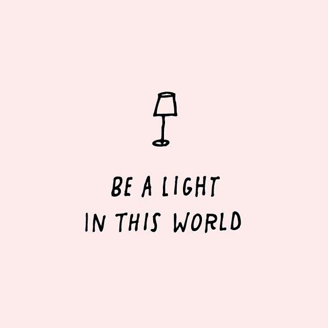 Seja uma luz neste mundo