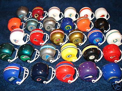 """Mini football helmets. My brother and I had most of 'em. You'd get them out of a machine for a quarter. This is what it sounded like: """"C'mon Redskins"""" … """"Crud!"""" … """"Whadyou get?"""" … """"The freakin' Buccaneers…again."""" (everyone sighs)"""