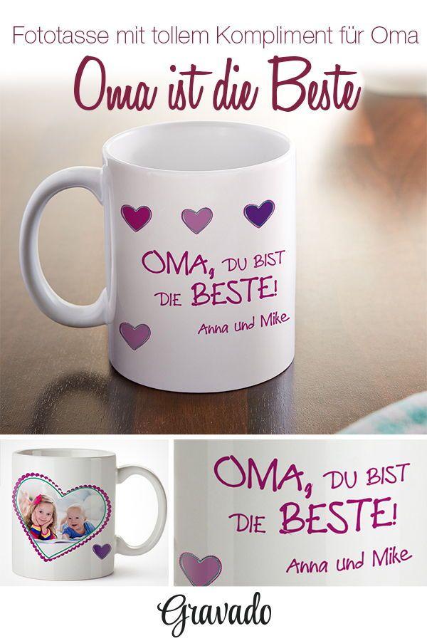 Bedruckte Tasse - Fototasse die beste Oma - Personalisiert | OMA ...
