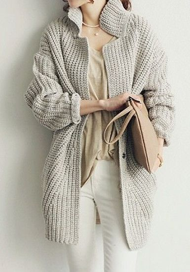 Seriously epic oversized sweater! #womensfashion