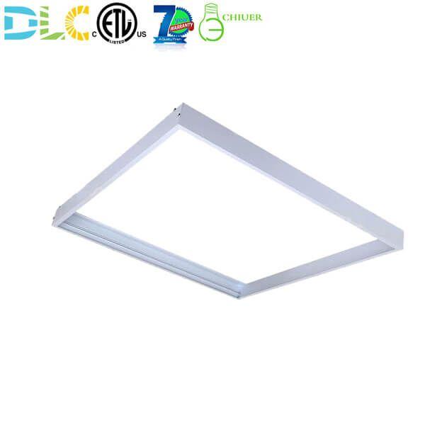 Led Panel Light Ceiling Frame Kit For Surface Mount 2x2 Flat Panel In 2020 Led Panel Light Led Panel Ceiling Lights