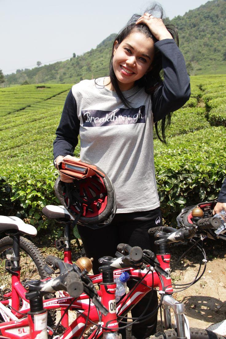 "Segar sehabis fun cycling BRI ""Breakthrough"" corporate outing #Caldera_Indonesia"