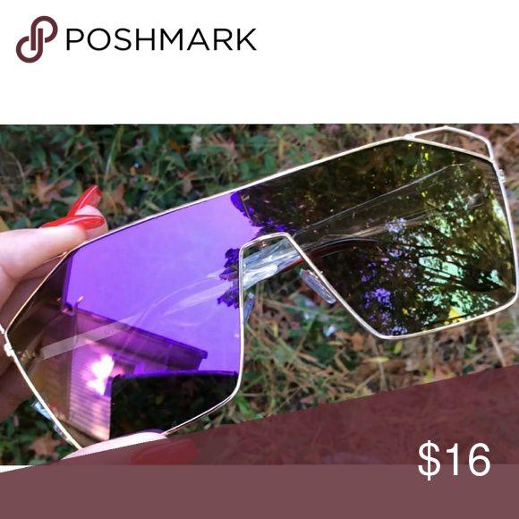 Sunglasses New Purple Mirror Lens Accessories Sunglasses