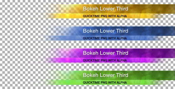 bokeh lower third