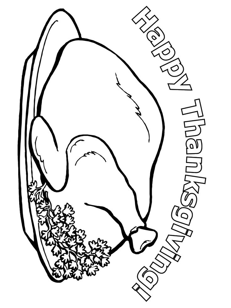 Thanksgiving Coloring Page Happy
