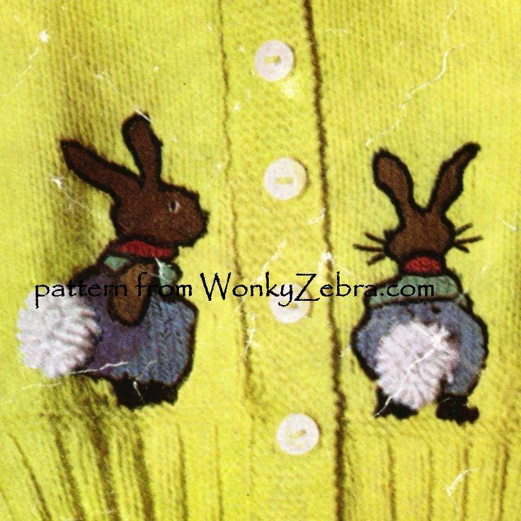 peter rabbit knitted motif