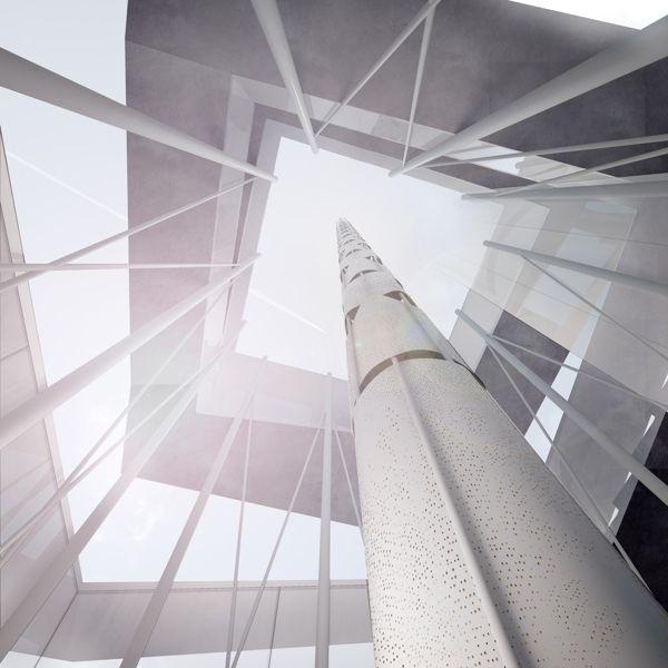 Telecommunications Tower, Santiago, Chile by christian beros, via Behance