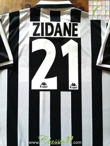 7ffc6add286 Relive Zinedine Zidane s 1996 1997 season with this original Kappa Juventus  home football shirt.