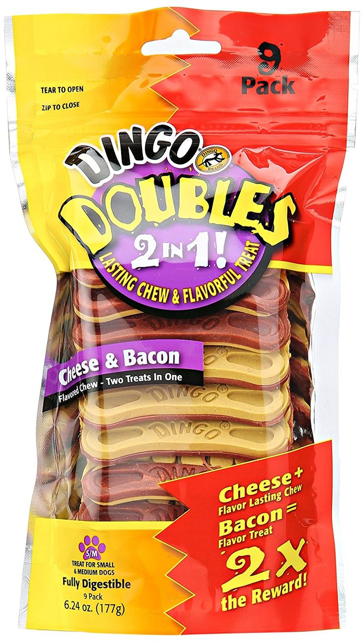 Dingo Doubles 2-In-1 Cheese and Bacon Treats >>> Find out more details by clicking the image : Dog Treats