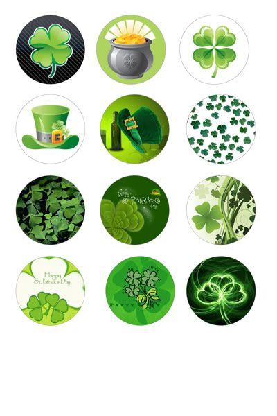 free collage sheet with bottle cap images