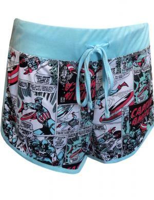 Marvel Comics Captain America Pajama Sleep Shorts
