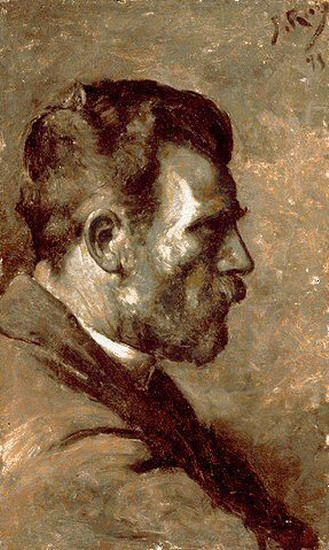 Pablo Picasso. Portrait of father l`artiste, 1896
