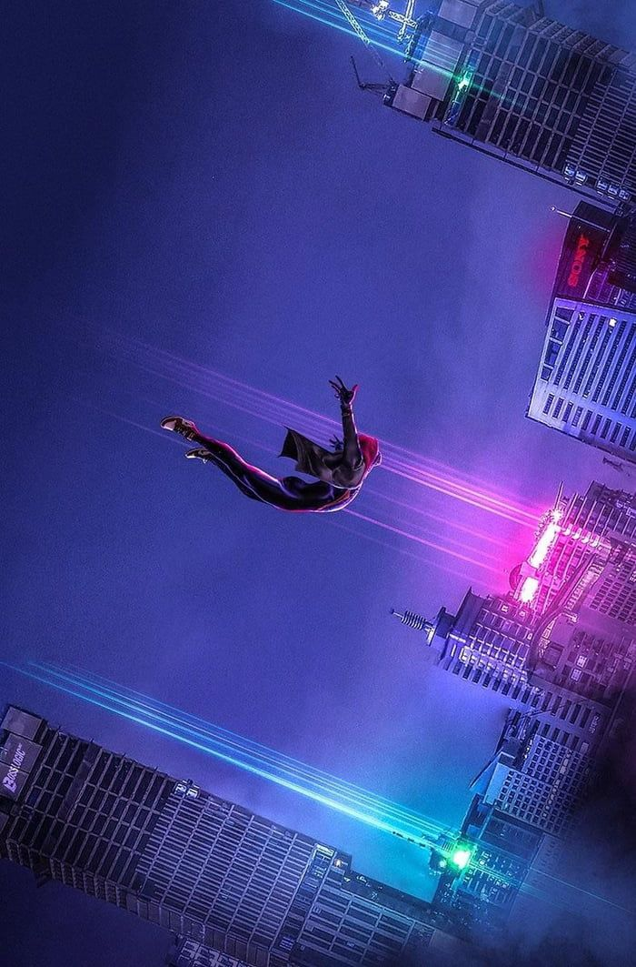SpiderVerse poster without text in great quality Marvel