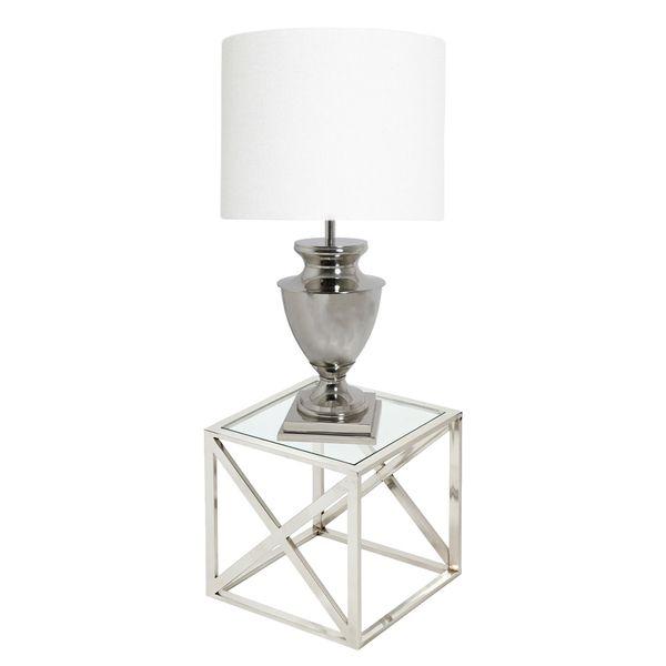 urban designs mandy 37inch tall urn nickel table lamp
